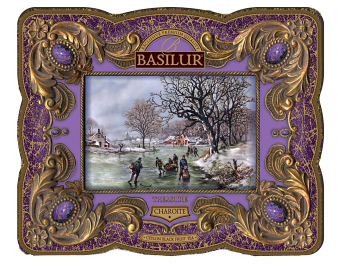 TREASURE Collection Basilur Gourmet Gift Tea Tin Box Charoite 100 G