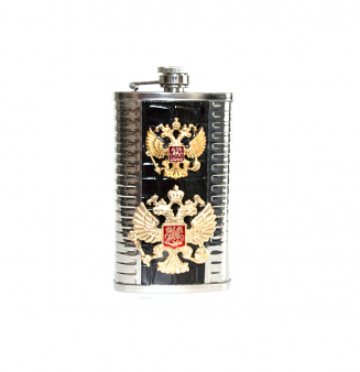 Flask Gerb of Russia black