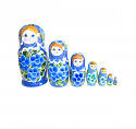 "Nesting Doll ""7 pcs""(H 8 inch blue)"