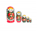 "Nesting Doll ""5 pcs"" (red)"